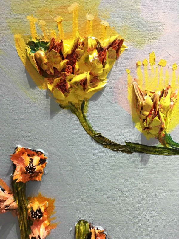 Agave Blooms, Oil Painting