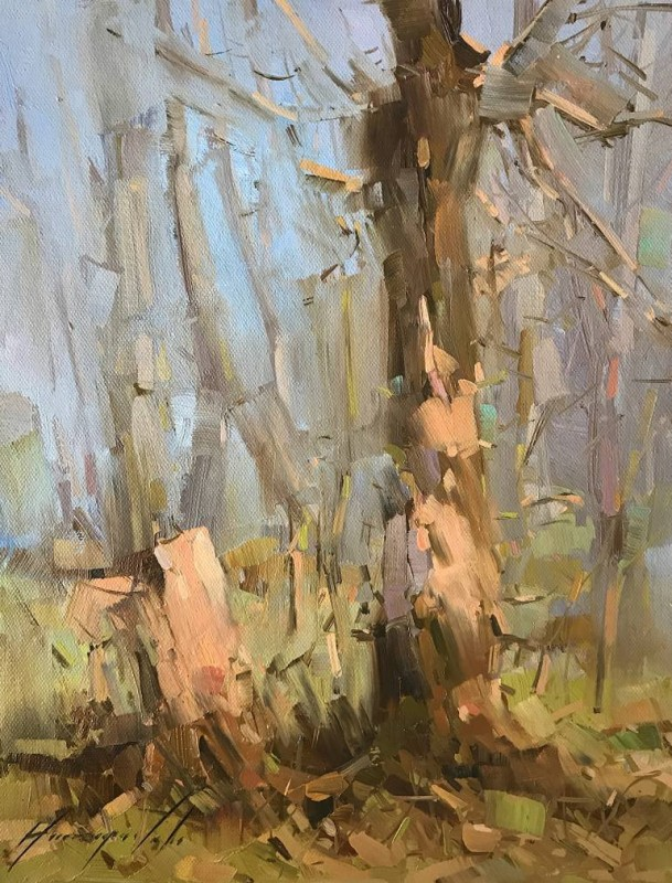 Dreamy Birches By Vahe Yeremyan, Oil Painting
