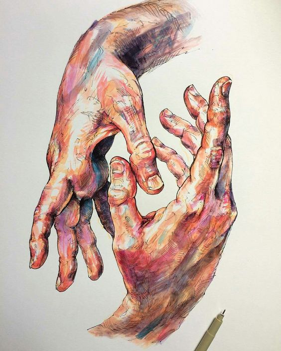 Hands By Noel Badges Pugh, Drawing