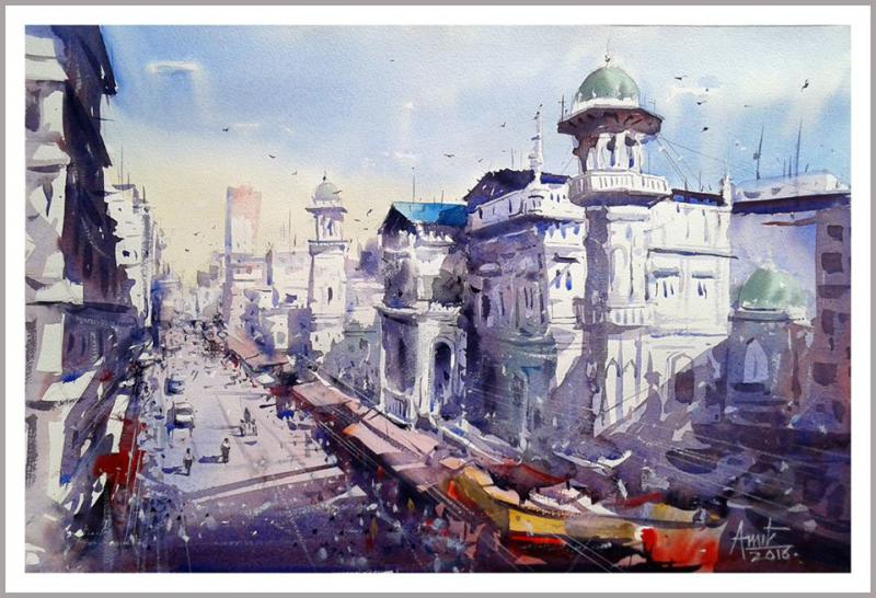 Izmir Turkey By Amit Kapoor, Watercolor Paintings