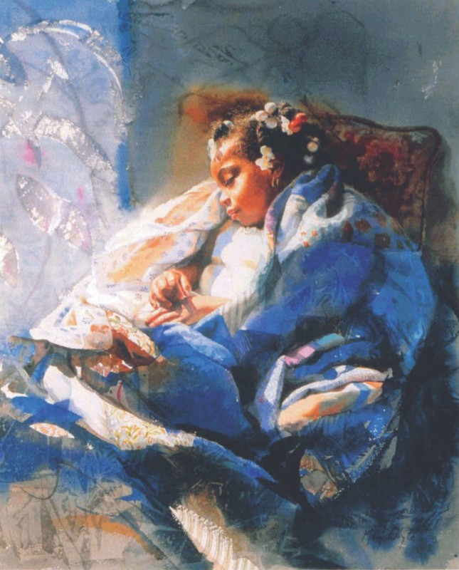 Lily Sleeping By Mary Whyte