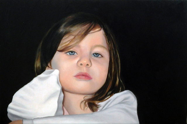 Maria By Edna Schonblum, Oil Painting