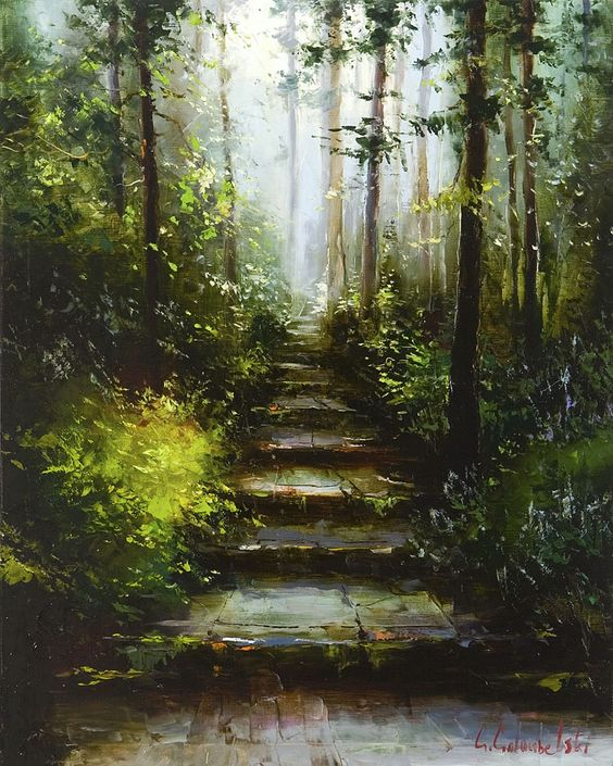 Mystical Forest by Gleb Goloubetski, Oil on Canvas