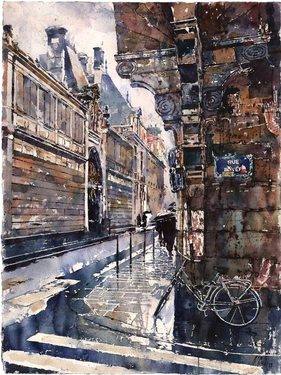 Paris By Michael Goro, Watercolor Paintings