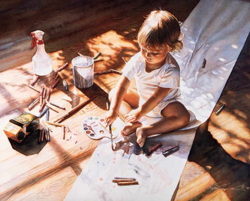 Realistic Watercolor Paintings By Steve Hanks