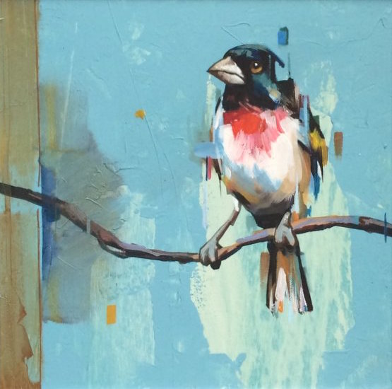 Sparrow By Dragan Petrovic Pavle, Oil Painting
