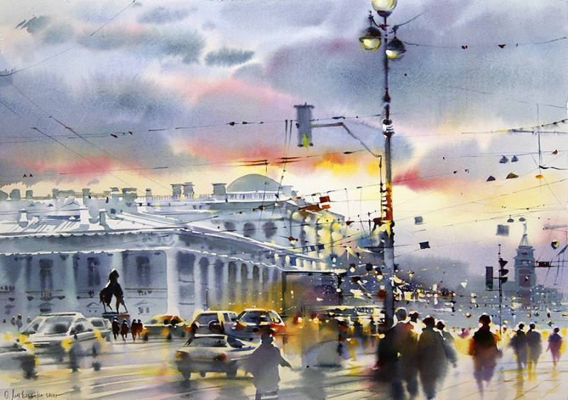 St. Petersburg Evening By Olga Litvinenko