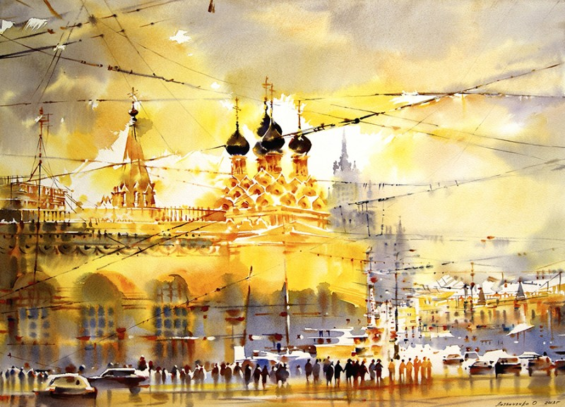 Taganka By Olga Litvinenko, Watercolor