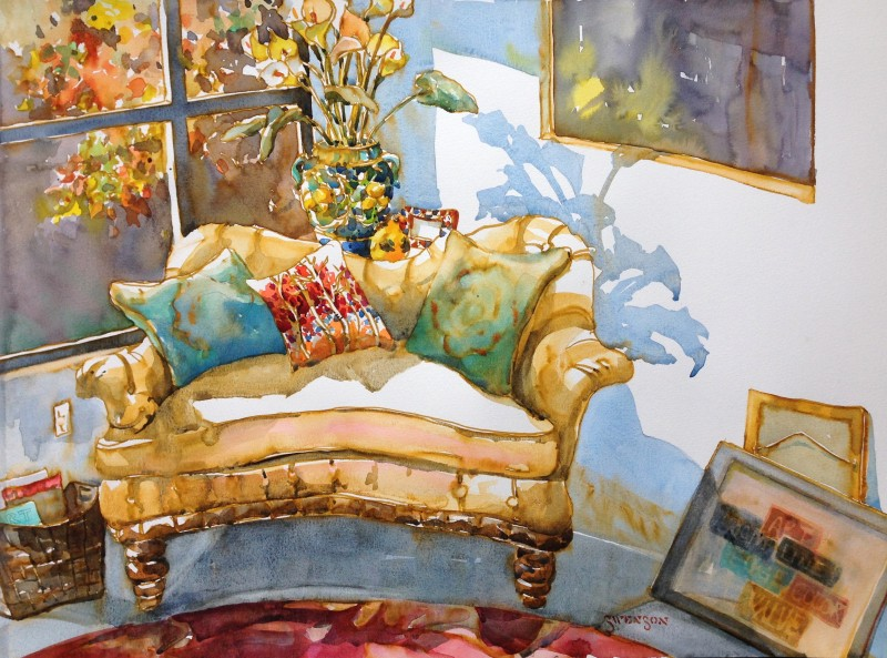 The Nook By Brenda Swenson, Watercolor Painting