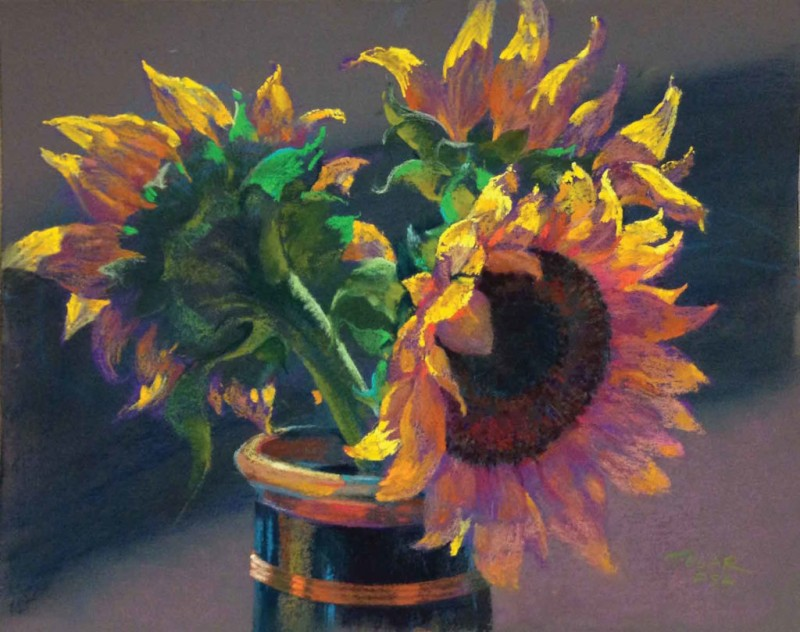 The Sunflower By Jude Tolar, Pastel Color