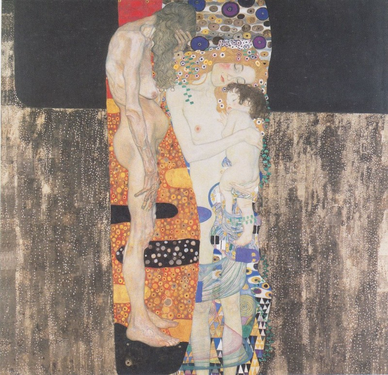 The Three Ages Of A Woman By Gustav Klimt, Oil Painting
