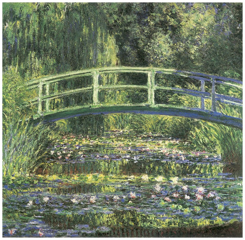 The Waterlily Pond With The Japanese Bridge By Claude Monet, Oil Painting