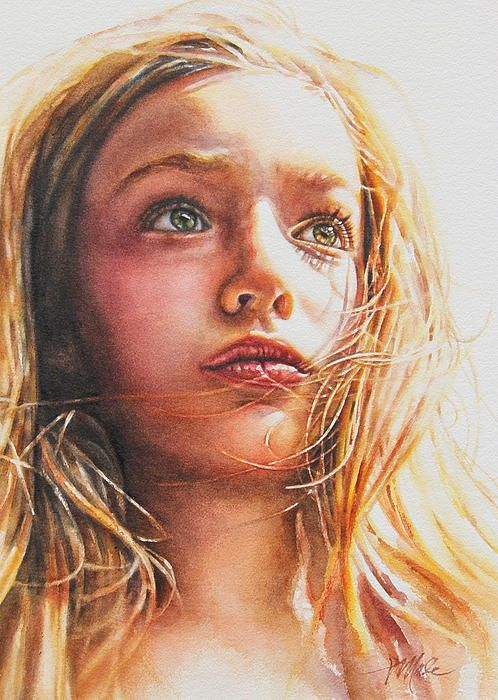 Through the Eyes of a Child by Tracy Male, Watercolor Painting