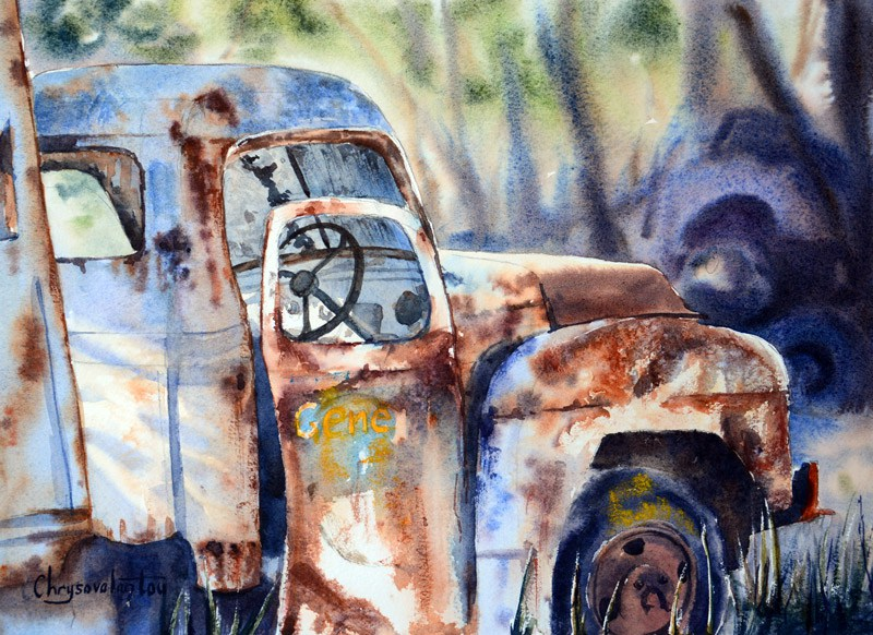 Treasure Trove By Chrysovalantou Mavroudis, Watercolor Painting