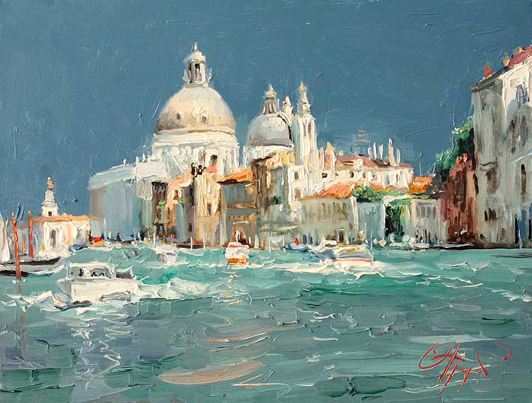 Venice By Oleg Trofimov, Oil Painting