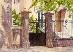 Charleston Gate By Mary Ellen Golden, Watercolor Painting