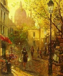 Montmartre By Manfred Rapp, Oil Painting