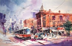 Toronto By Jay Alam, Watercolor