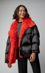 Yves Salomon Paris Shearling-Trimmed Quilted Shell Hooded Puffer Coat