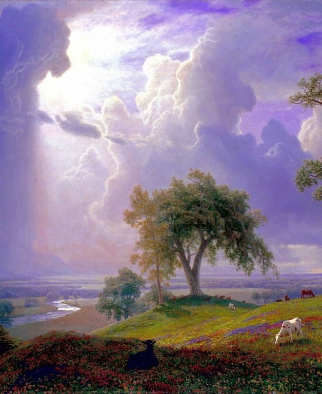 California Spring By Albert Bierstadt, Oil Painting