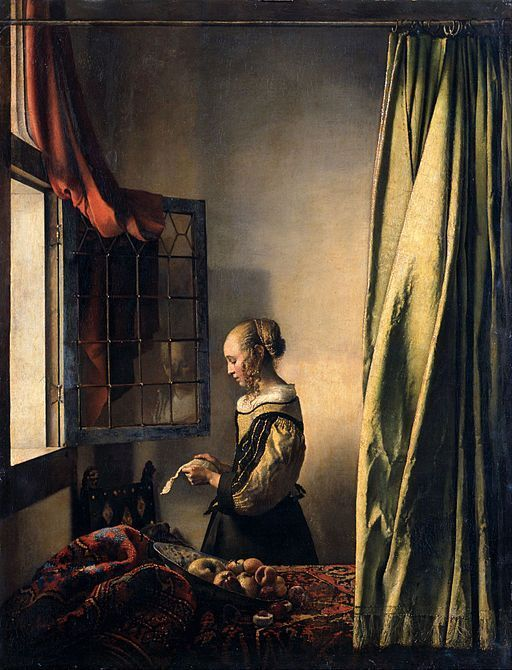 Girl Reading a Letter at an Open Window by Johannes Vermeer, Oil Painting
