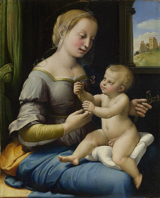 The Madonna Of The Pinks By Raphael, Oil Painting