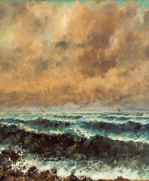 Autumn Sea By Gustave Courbet, Oil Painting