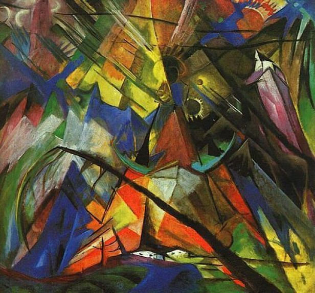 Tyrol by Franz Marc, Oil Painting