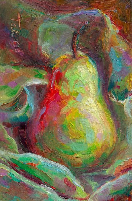 Just A Pear By Talya Johnson, Oil Painting