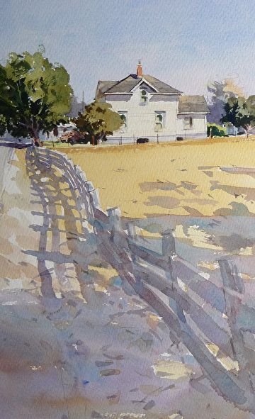 On the West Side by Mike Kowalski, Watercolor Painting