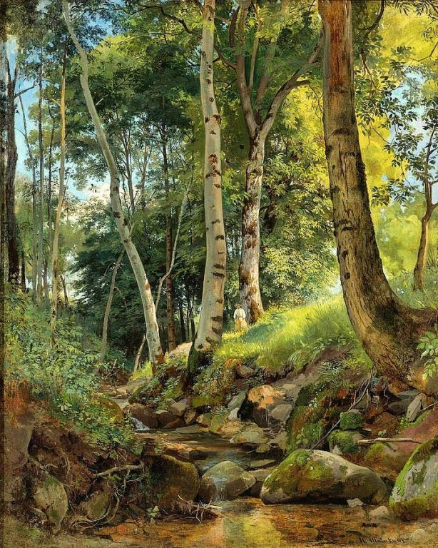 The Brook By Ivan Shishkin, Oil Painting