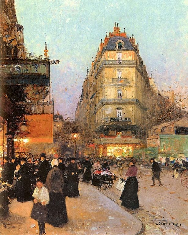The Grand Boulevards By Luigi Loir, Oil Painting