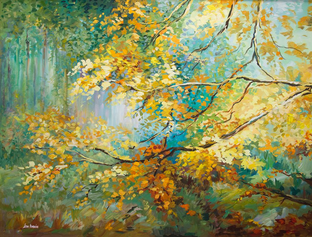 The Golden Leaves by Leon Devenice, Oil Painting