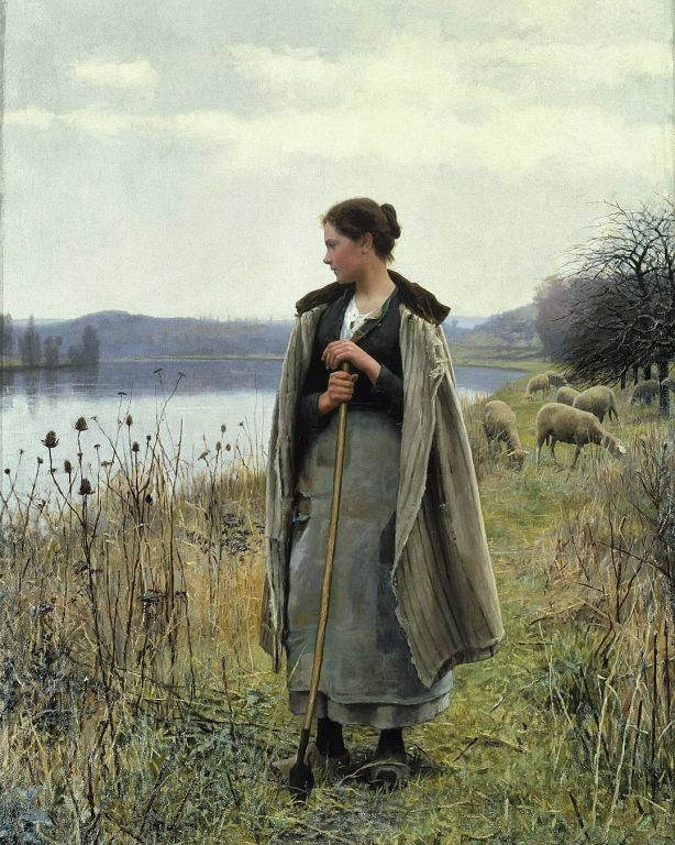 The Shepherdess Of Rolleboise By Daniel Ridgway Knight, Oil Painting