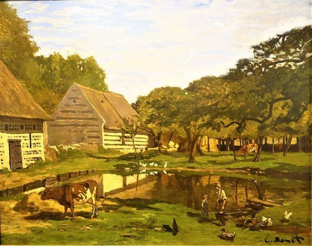 Farmyard in Normandy By Claude Monet, Oil Painting