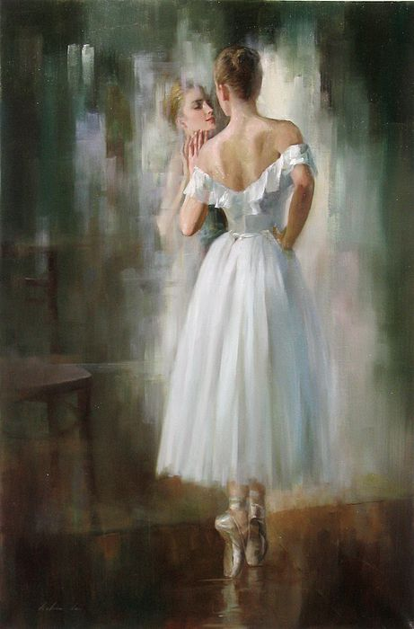 Ballerina By Kelvin Lei, Oil Painting