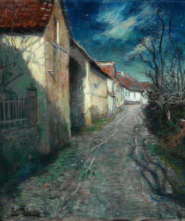 Moonlight in Beaulieu By Frits Thaulow, Oil Painting