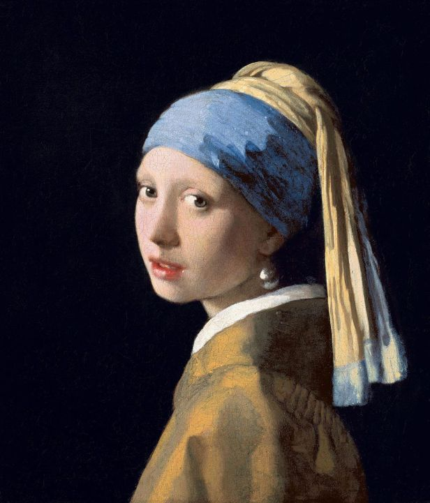 Girl With A Pearl Earring By Johannes Vermeer, Oil Painting