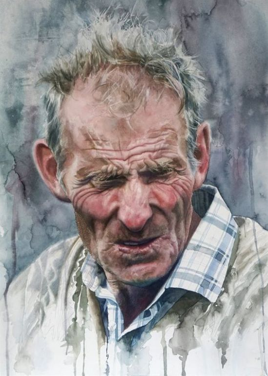 Farmer By John Cooney, Watercolor Painting