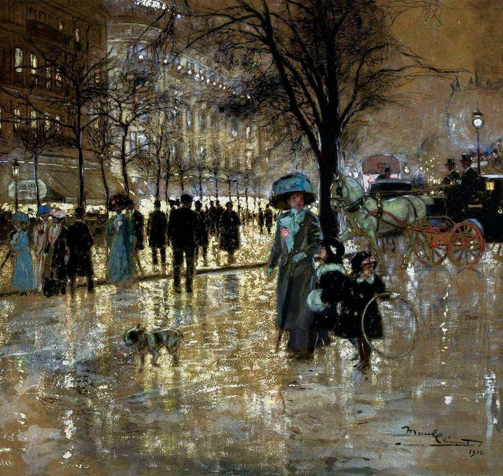 Boulevard Bonne Nouvelle By Amédée-Julien Marcel-Clément, Oil Painting